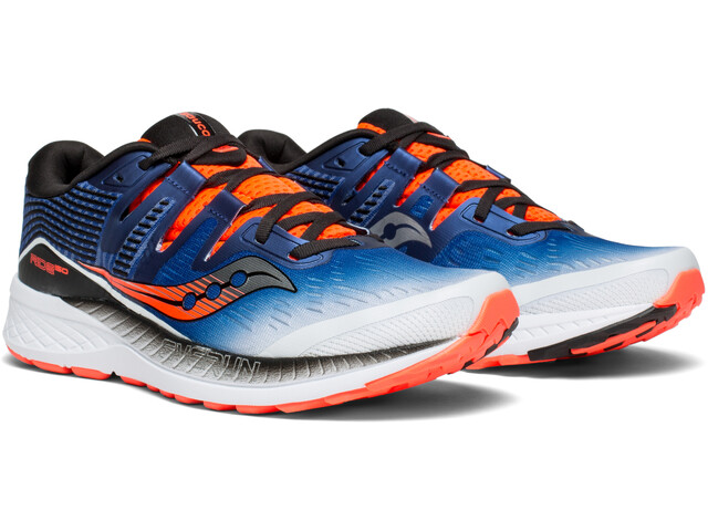 saucony Ride ISO Shoes Men White/Blue/ViziRed